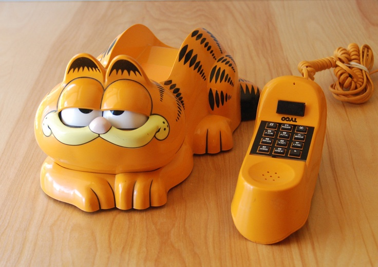 80s garfield phone by tyco