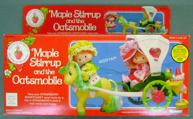 Strawberry Shortcake Toy: Maple Stirrup and the Oatsmobile