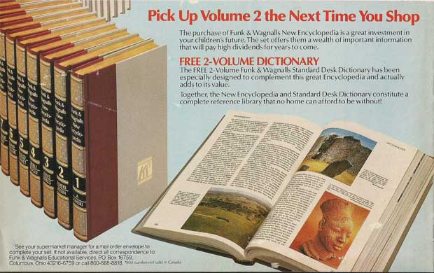 Funk and Wagnalls encyclopedia ad