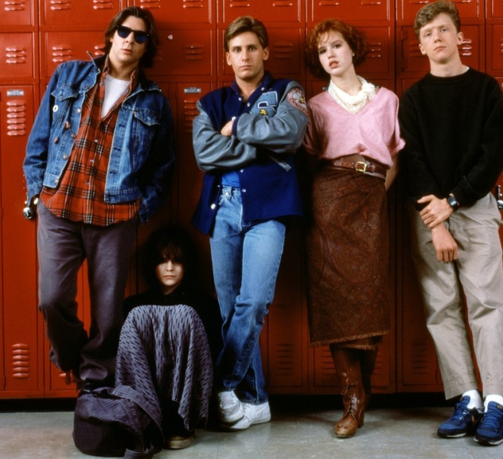 cast of 1985's The Breakfast Club