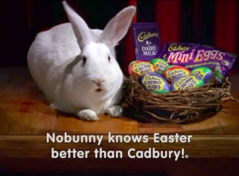 "Cadbury Easter Bunny - ""No bunny knows Easter better than Cadubry!"""