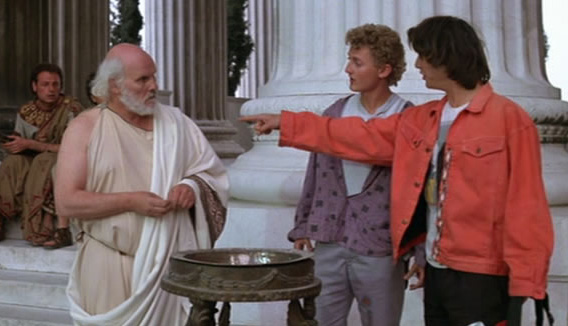 Bill and Ted meet Socrates