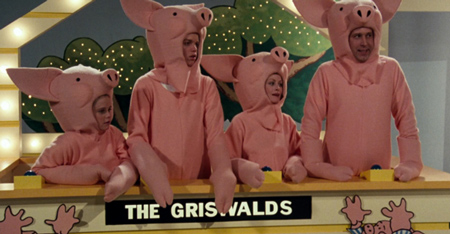 "The Griswold family wins a Europen Vacation on the game show, ""Pig in a Poke"""