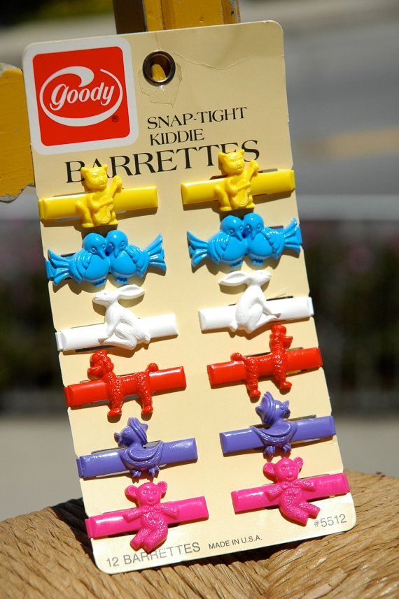 Goody Snap Barrettes Came In Animal Shapes Too