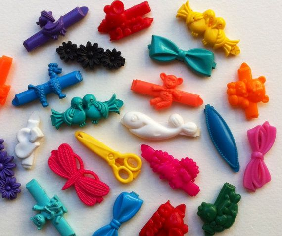 Goody barrettes were super colorful