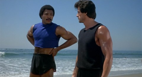 Apollo Creed in a cropped top