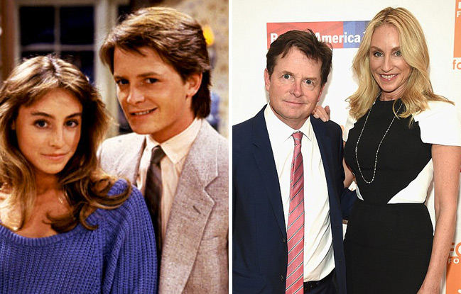 Michael J. Fox and his wife Tracy Pollan met on the set of Family Ties when they played each other's love interests, Alex Keaton and Ellen Reid.