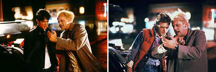 Eric Stoltz was originally cast as Marty McFly, but the part ultimately went to Michael J. Fox