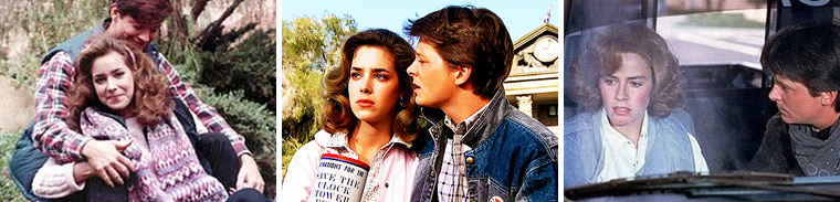 Melora Hardin was originally slated to play Jennifer Parker, Marty McFly's girlfriend, but was replaced when Michael J. Fox came on board because she was deemed too tall. The part then went to Claudia Wells for the first film and then Elisabeth Shue took over for the 2nd and 3rd installments of Back to the Future.