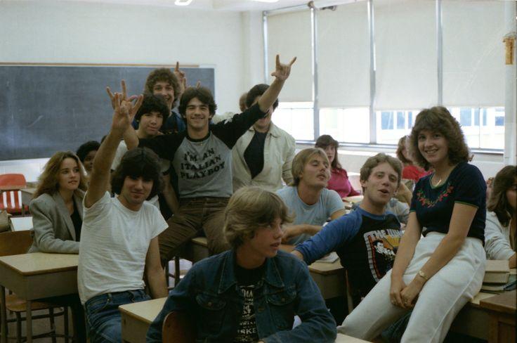 80s school classroom