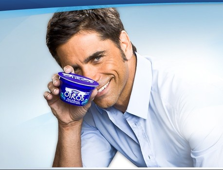 John Stamos sells us Oikos yogurt