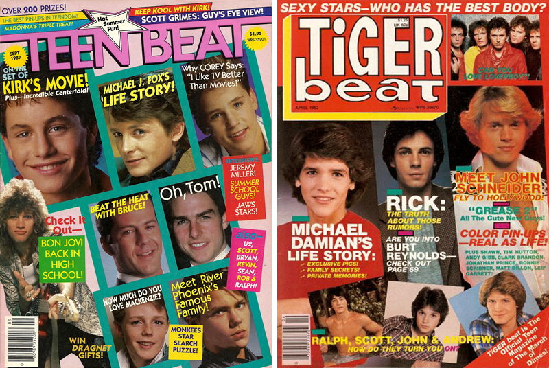 80s Teen Magazines: Teen Beat and Tiger Beat