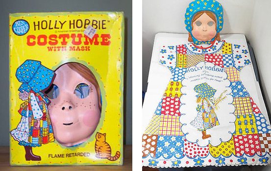 80s Holly Hobbie costume with mask