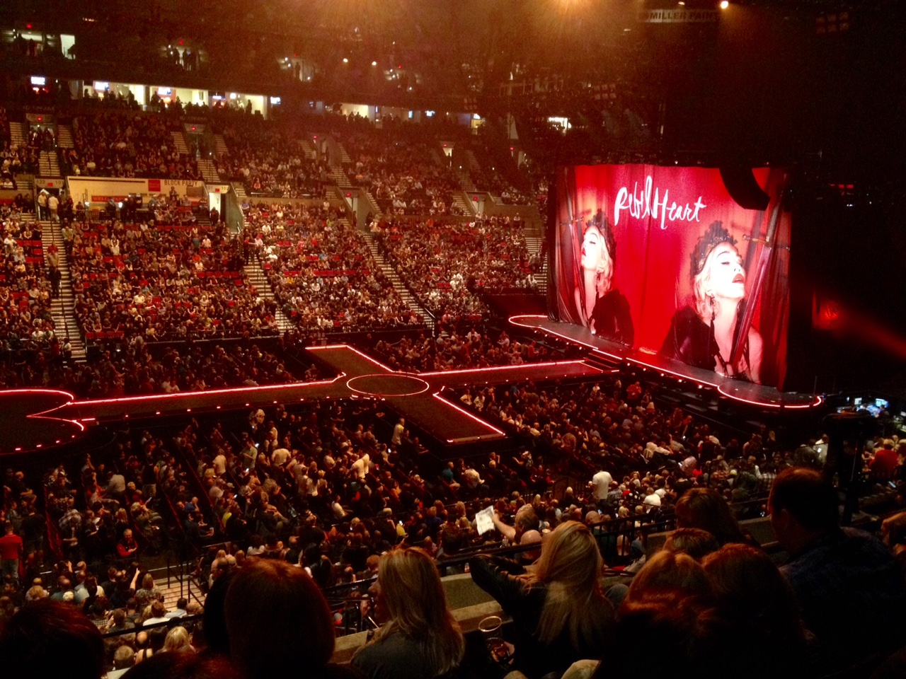 Stage at Madonna's Rebel Heart tour