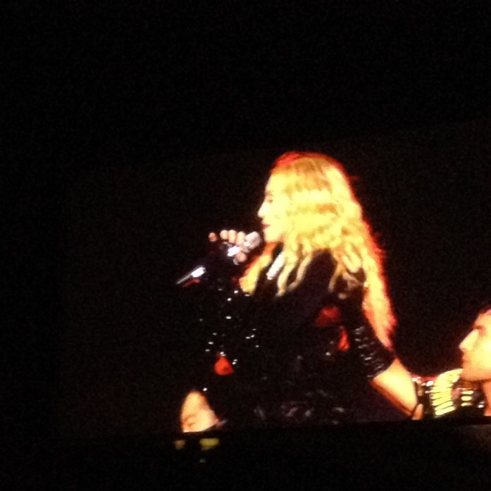 Madonna performing during her Rebel Heart tour