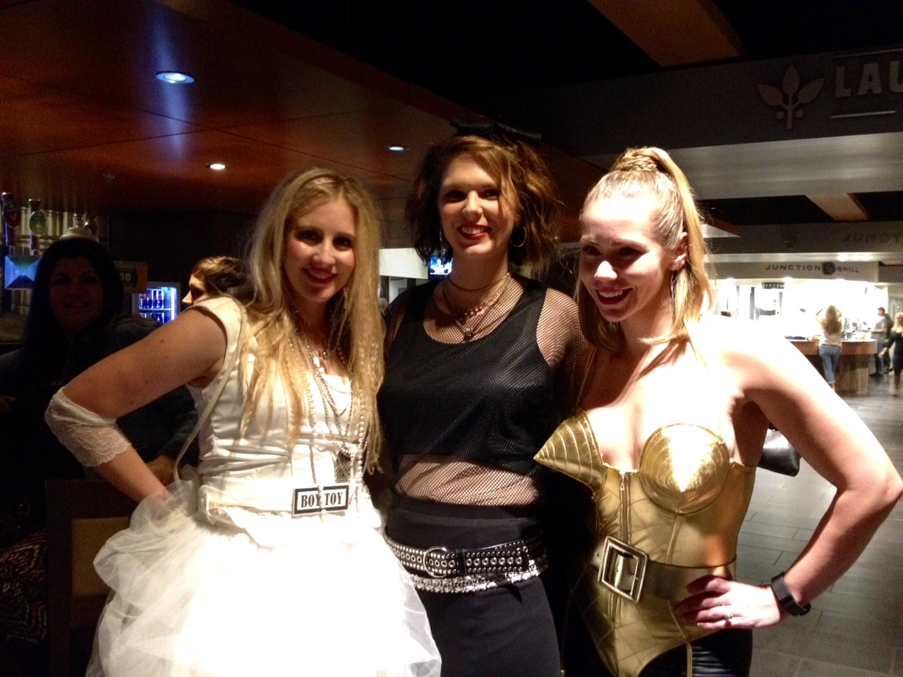 Concert goers dressed as different versions of Madonna
