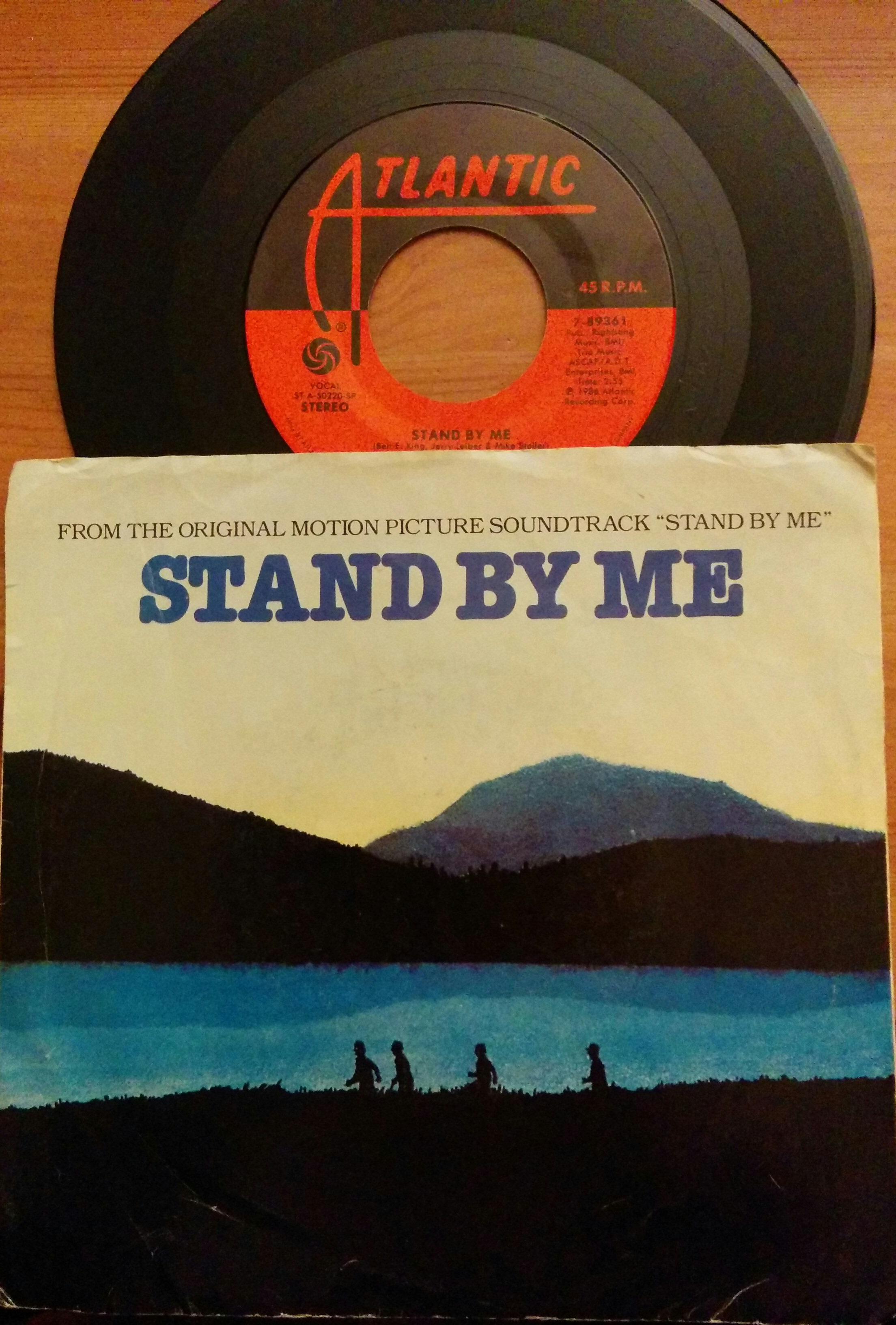 """Stand By Me"" by Ben E. King 45 record from the original motion picture soundtrack to Stand By Me"