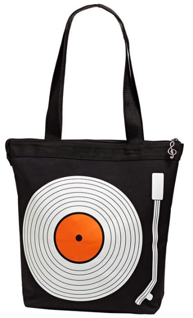80s Gift Ideas: Record Player Vinyl Tote