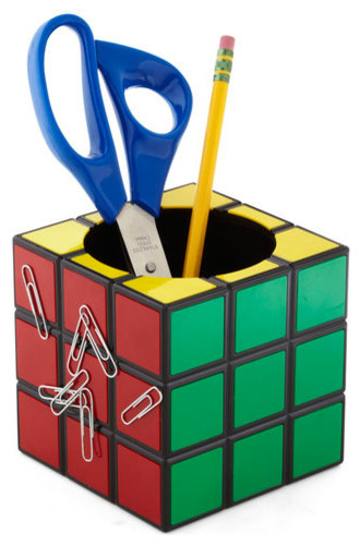 Rubik's Cube Pencil Cup