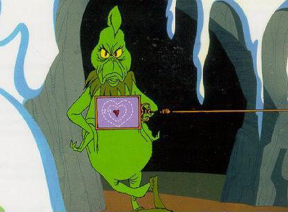 The Grinch's heart is two sizes too small
