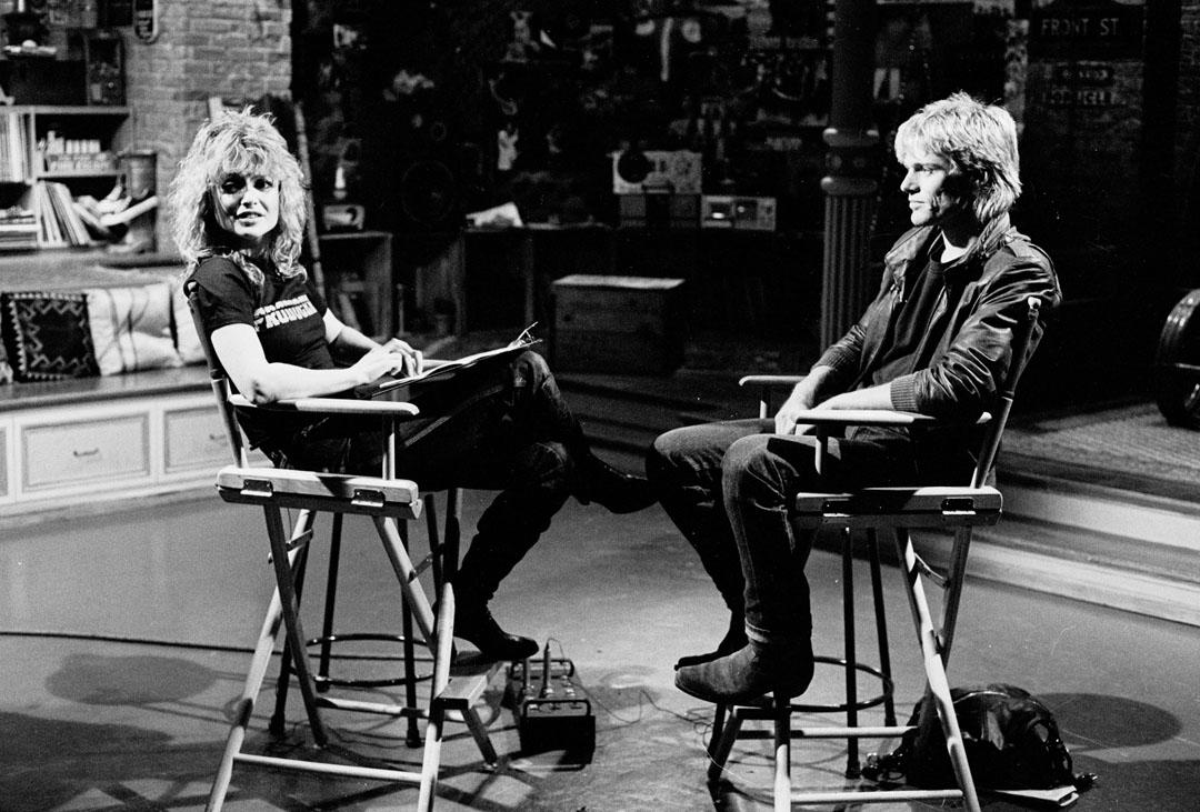Original MTV VJ Nina Blackwood interviewing Bryan Adams in April 1982.