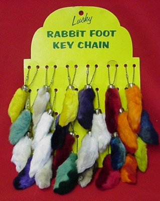 Lucky Rabbit Foot Key Chains from the 80s