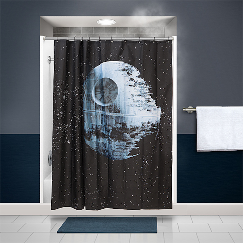 Star Wars Death Star Shower Curtain Exists For the Diehard Fan ...