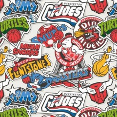 NBA Logos Get An Awesome 80s Cartoon Makeover