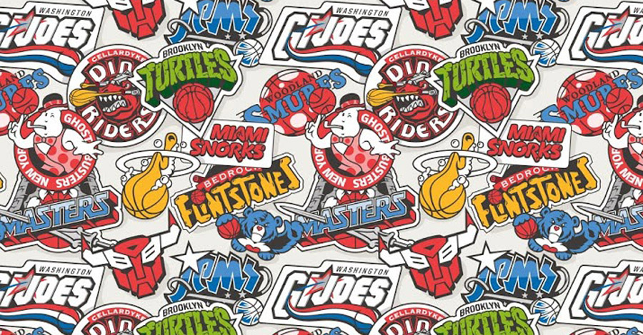 NBA Cartoon Logos