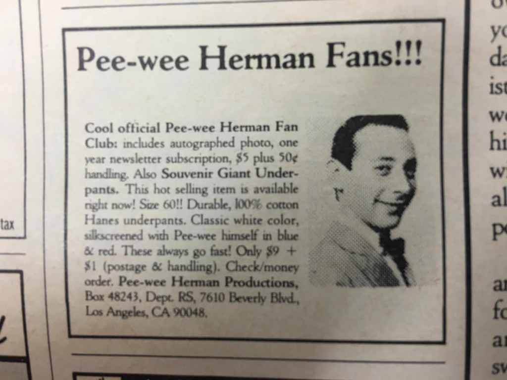 Pee Wee Herman Fan Club
