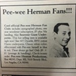 80s Ad For Pee-wee Herman Fan Club Promises Every Fan Giant Underpants