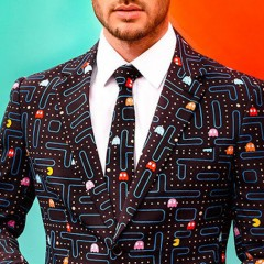 Pac-Man Business Suit And Matching Tie Screams 'Old School Money!'