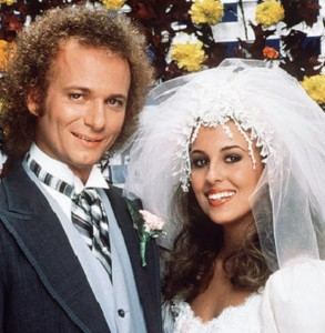 "GENERAL HOSPITAL - Luke and Laura's wedding - 11/16/81 Luke (Anthony Geary) and Laura (Genie Francis) put their turbulent past behind them and married on the grounds of the Port Charles mayor's mansion, on Monday, Nov. 16 and Tuesday, Nov. 17, 1981, when ABC Daytime invited the world to tune in to the daytime wedding of the decade, on ""General Hospital"". The long-awaited nuptials, plus guest star Elizabeth Taylor, served up the highest ratings in soap opera history. GH81 (Photo by Bob D'Amico/ABC via Getty Images) ANTHONY GEARY, GENIE FRANCIS"