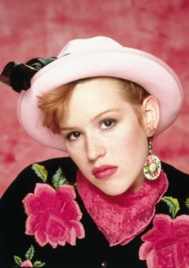 Molly-Ringwald-Pretty-In-Pink-Hat-Earrings-Floral-80s